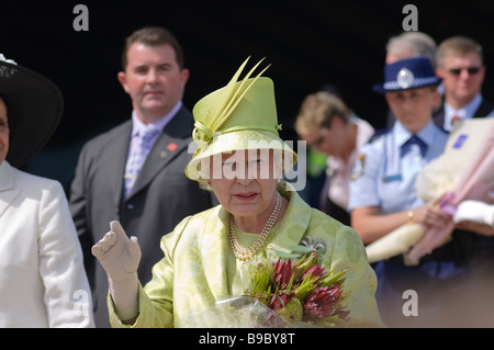 Visit of Queen Elizabeth II to Sydney. March 2006. - Stock Photo