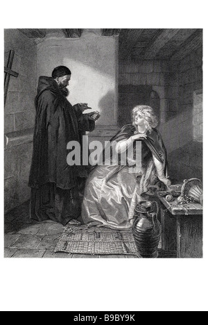 juliet in the cell of friar lawrence romeo and juliet Romeo and Juliet is a tragedy written early in the career - Stock Photo
