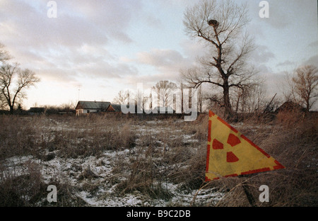 Area affected by Chernobyl nuclear disaster - Stock Photo