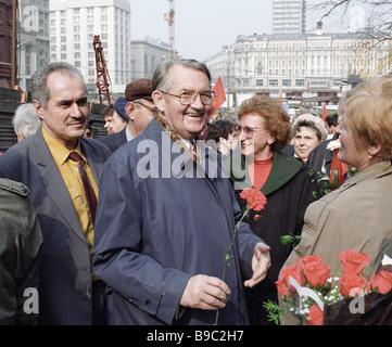 Valentin Varennikov in Red Square on Vladimir Lenin s birthday - Stock Photo