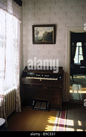 A front room at the Dostoyevsky Museum in Staraya Russa - Stock Photo