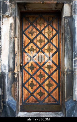 Old gothic door. - Stock Photo
