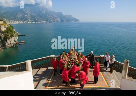 S Maria Maddalena celebrations Atrani Amalfi coast Salerno Italy - Stock Photo