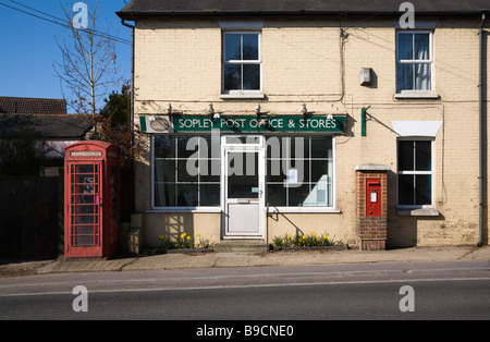 Post Office & Stores, now closed down. Sopley village, Hampshire (on the Border of Dorset). UK. - Stock Photo