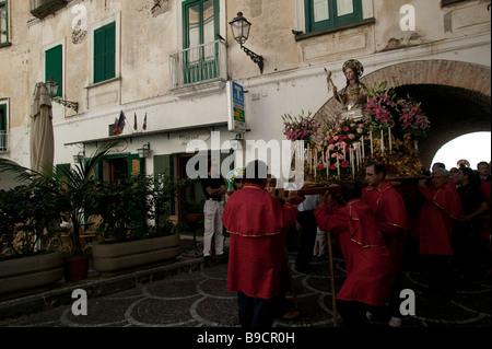 Santa Maria Maddalena celebrations Atrani Amalfi coast Salerno italy - Stock Photo