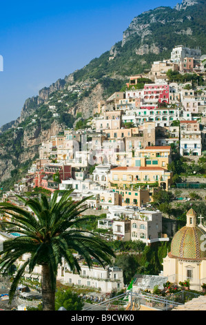 Positano Amalfi coast Salerno Italy - Stock Photo