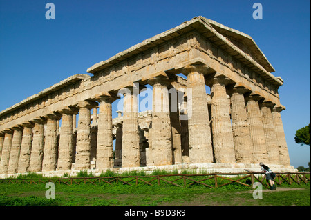 Temple of Neptune Paestum Salerno Italy - Stock Photo