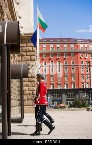President's Palace guards Sofia Bulgaria - Stock Photo