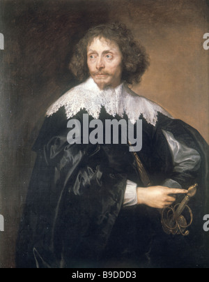 Flemish Painter Anthony Van Dyck 1599 1641 Portrait of Sir Thomas Chaloner Late 1630s State Hermitage - Stock Photo
