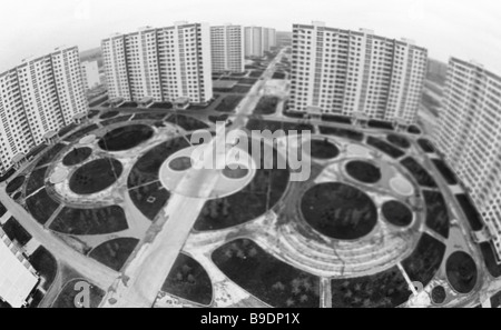 The Olympic Village in Moscow getting ready to cater for sportsmen - Stock Photo