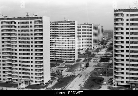 The Olympic Village on Michurinsky Prospekt in Moscow - Stock Photo