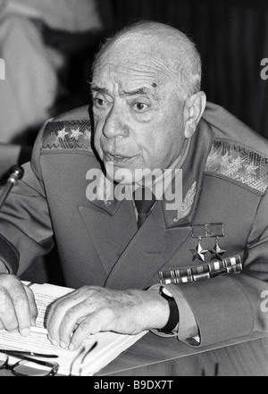 Chairman of the Soviet Public Anti Zionist Committee Colonel General Dmitry Dragunsky - Stock Photo