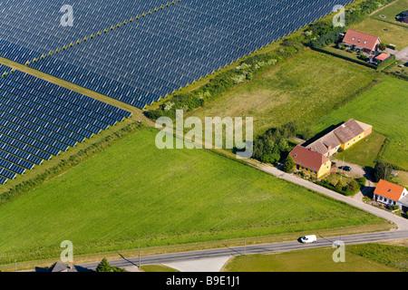 Solar Plant Marstal 198 R 248 Island Funen Denmark Stock Photo