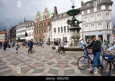 Amagertorv Copenhagen Zealand Denmark - Stock Photo