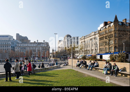 Piccadilly Gardens in the city centre, Manchester, England - Stock Photo