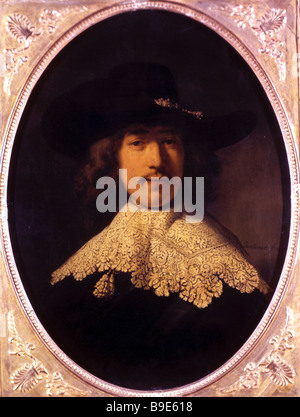Rembrandt Harmenszoon Van Rijn 1606 1669 Portrait of a Young Man 1634 State Hermitage - Stock Photo