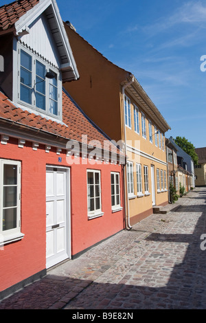 Denmark Odense Overgade and Nedergate H C Andersen birth district - Stock Photo