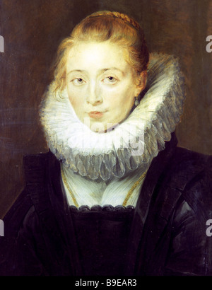 Peter Paul Rubens 1577 1640 Portrait of a Chambermaid of Infanta Isabella C 1625 Oil on wood State Hermitage Museum - Stock Photo
