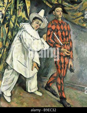 Paul Cezanne 1839 1906 Pierrot and Harlequin Pushkin Museum of Fine Arts Reproduction - Stock Photo
