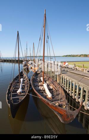 Denmark Zealand Roskilde Vikingeskibs Viking ship museum - Stock Photo