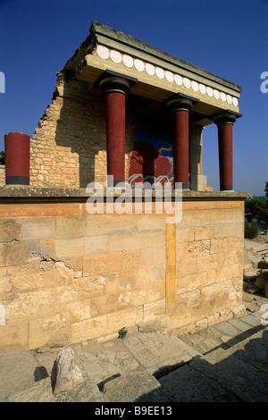 greece, crete, knossos, minoan palace - Stock Photo
