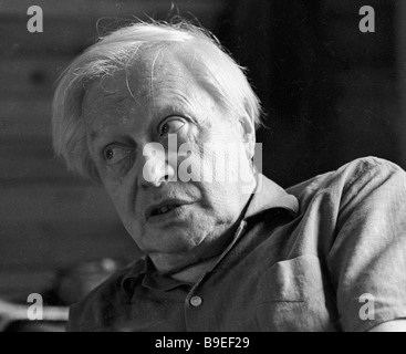 USSR People s Artist Sergei Obraztsov the director of the Central Puppet Theater - Stock Photo