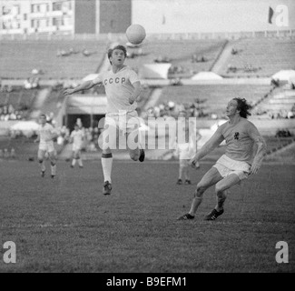 Moscow s Torpedo Club forward Gennady Shalimov in Olympic match between Soviet and Netherlands national teams - Stock Photo