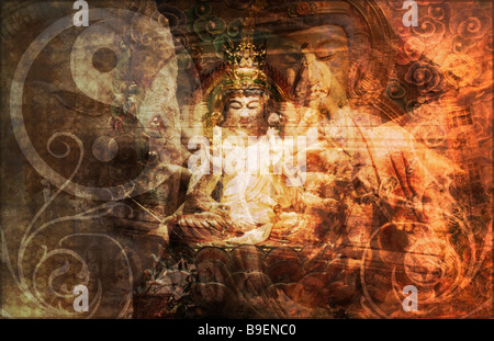 Secret Society Gang Religion as Art Background - Stock Photo