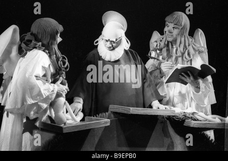 Sergei Obraztsov Artistic Director of the Central Puppet Theater People s Artiste of the USSR center in a scene - Stock Photo