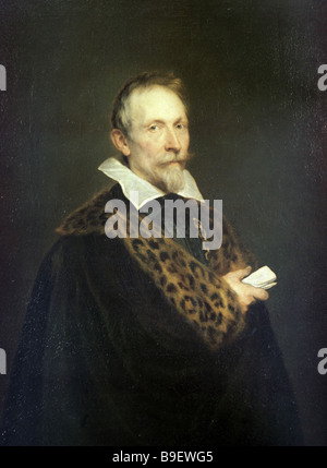 Sir Anthony van Dyck Portrait of Jean van den Wouver State Pushkin Fine Arts Museum Moscow - Stock Photo