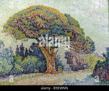 The Pine St Tropez by Paul Signac s 1863 1935 from the collection of the Pushkin fine arts museum - Stock Photo