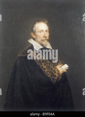 Sir Anthony van Dyck 1599 1641 Portrait of Jan van den Wouver Oil on canvas 106 x 83 cm State Pushkin Fine Arts - Stock Photo