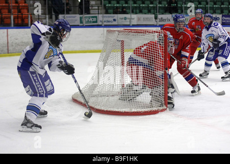 No 11 in Finland, Mikael Granlund, lifting the puck with the blade of the stick in an attempt to lift it around - Stock Photo