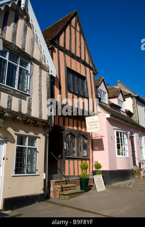 The Crooked House gallery Lavenham Suffolk England - Stock Photo
