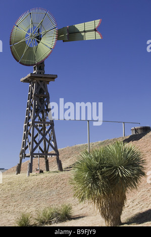 usa Texas Lubbock 'national Ranching Heritage cente' wind-wheel nationally ranching America architecture exhibition - Stock Photo