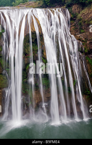China, Guizhou Province, Huangguoshu Waterfall is the largest in China at 81m wide and 74m high - Stock Photo