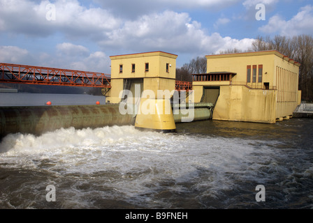 Hengstey hydro electric power station, North Rhine-Westphalia, Germany. - Stock Photo