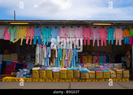 Clothing store at SAPA the Asia Trade Centre in Libus district in outskirts of Prague Czech Republic Europe - Stock Photo