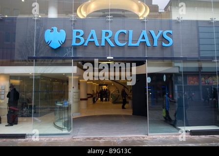 Barclays Bank on Market street Manchester city centre UK - Stock Photo