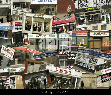 FINANCIAL CRISIS:  Desolation Street - Stock Photo
