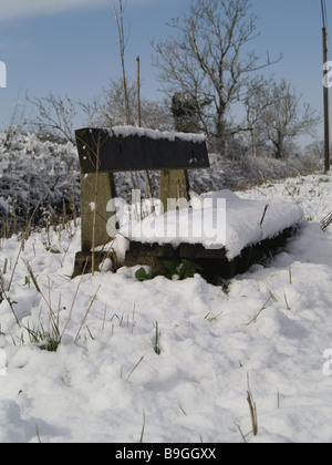 A Seat in the Snow - Stock Photo