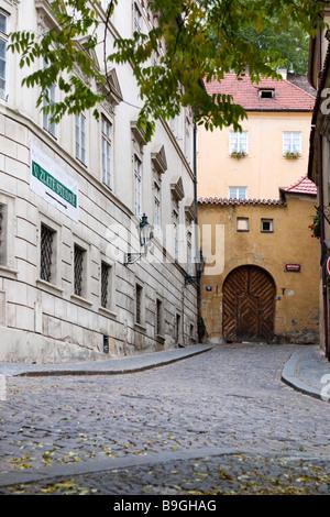 View of Zlate studne street Prague. - Stock Photo