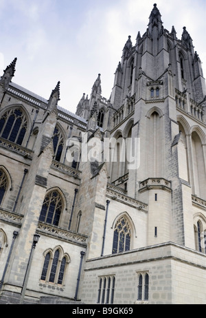An exterior view of the Washington National Cathedral In Washington DC. - Stock Photo