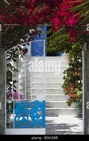 Greece island samos Pythagorion residence entrance openly Europe Mediterranean-island destination city house entrance - Stock Photo