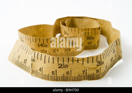 Measurement-band longitudinal-unit Inch  American equipment band diet unit English exactly precision weight-decrease - Stock Photo