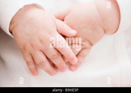 Baby hands Stock Photo