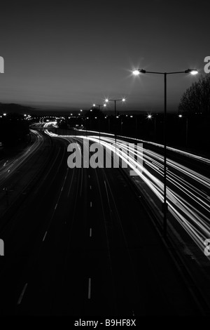 Rush hour traffic on A40 Road (Western Avenue), Greenford, London - Stock Photo