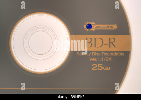 Sony BD-R Blue-Ray Recordable Disc, blank disc - Stock Photo