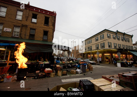 Italian town, South 9th street, Philadelphia, Pennsylvania - Stock Photo