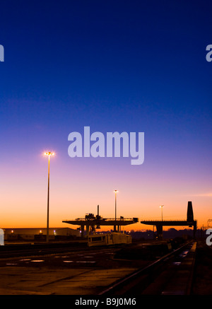 Harwich Harbour at dawn, England, Great Britain, Europe - Stock Photo